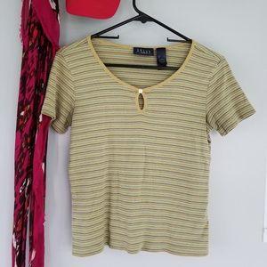 Vintage stripe shirt with keyhole